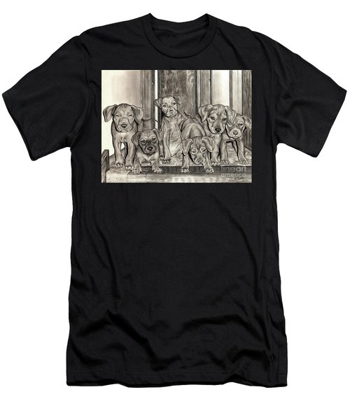 Puppies  Men's T-Shirt (Athletic Fit)
