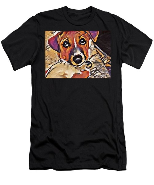 Puppy Eyes Men's T-Shirt (Athletic Fit)