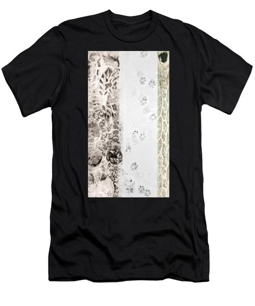 Puppy Prints In The Snow Men's T-Shirt (Athletic Fit)