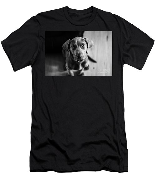Puppy - Monochrome 1 Men's T-Shirt (Athletic Fit)