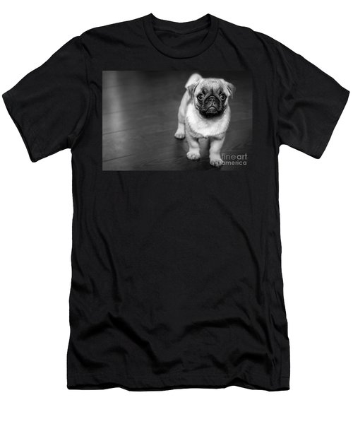 Puppy - Monochrome 2 Men's T-Shirt (Athletic Fit)