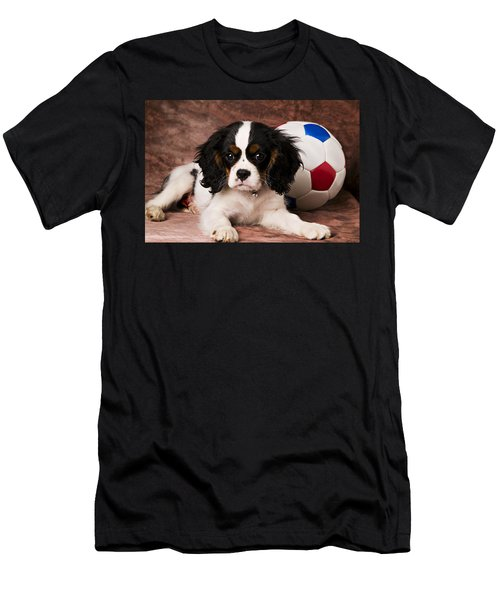 Puppy With Ball Men's T-Shirt (Athletic Fit)