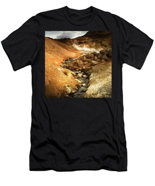Pure Iceland - Geothermal Area Krysuvik Men's T-Shirt (Athletic Fit)