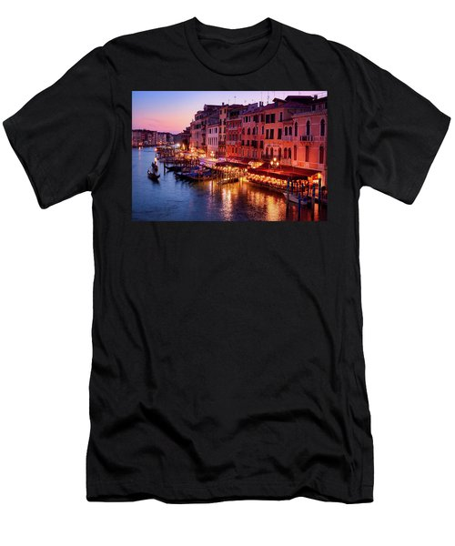 Cityscape From The Rialto In Venice, Italy Men's T-Shirt (Athletic Fit)