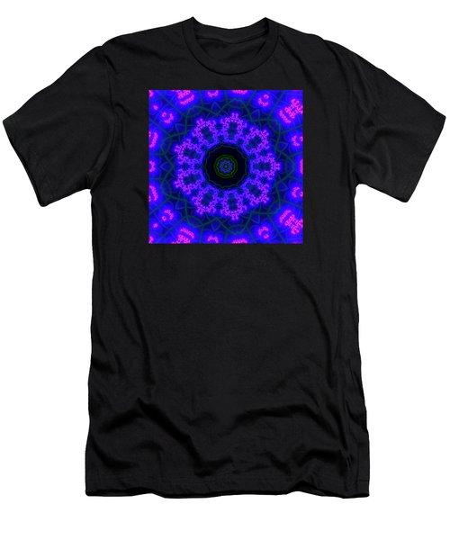 Purple 9 Lightmandala Men's T-Shirt (Slim Fit) by Robert Thalmeier