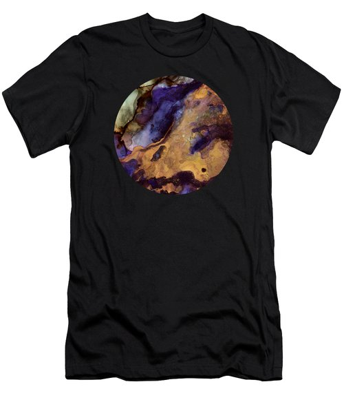 Purple And Gold Abstract Men's T-Shirt (Athletic Fit)