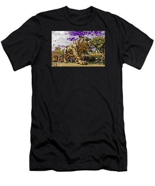 Purple And Gold Men's T-Shirt (Slim Fit) by Scott Pellegrin