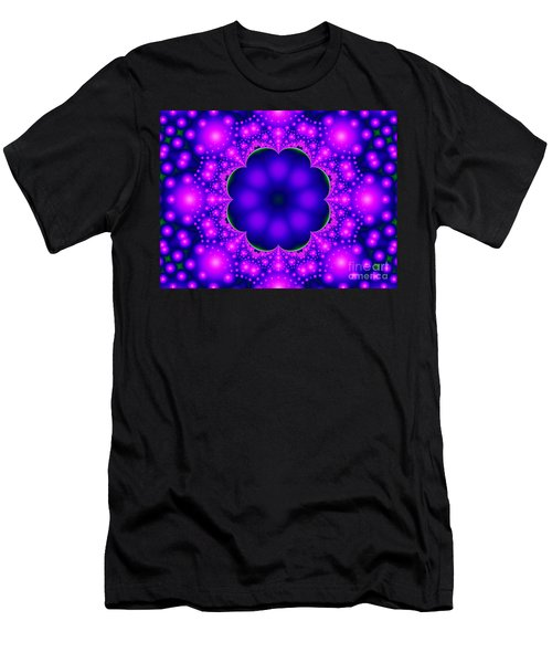 Purple And Pink Glow Fractal Men's T-Shirt (Athletic Fit)