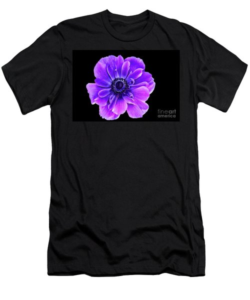 Purple Anemone Flower Men's T-Shirt (Athletic Fit)