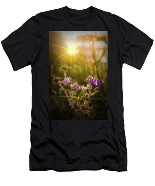 Purple Aster Glow Men's T-Shirt (Athletic Fit)