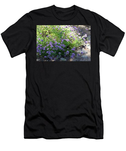 Purple Bachelor Button Flower Men's T-Shirt (Athletic Fit)