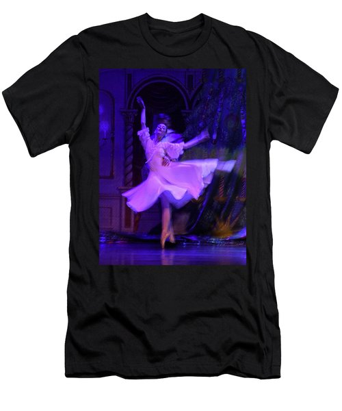 Purple Ballet Dancer Men's T-Shirt (Athletic Fit)