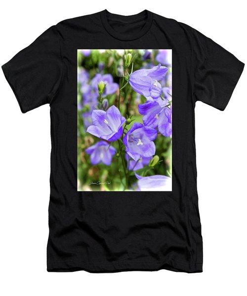 Purple Bell Flowers Men's T-Shirt (Athletic Fit)