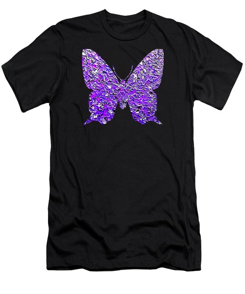 Purple Butterfly  Men's T-Shirt (Athletic Fit)