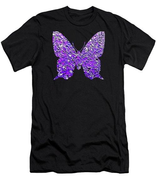 Purple Butterfly  Men's T-Shirt (Athletic Fit)
