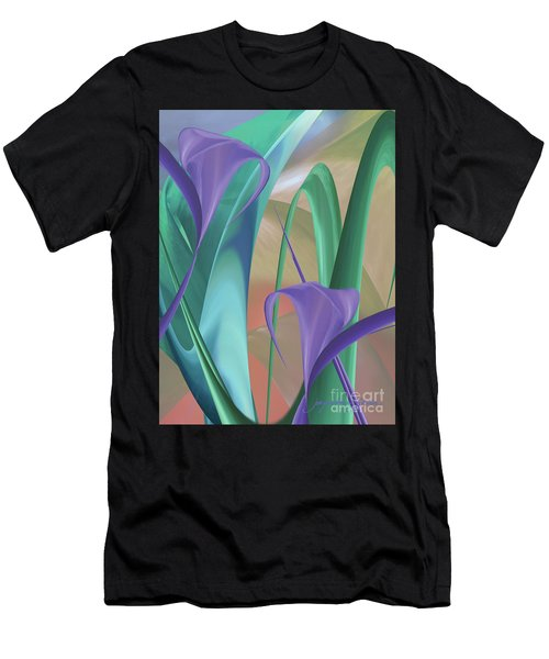 Purple Calla Lilies Men's T-Shirt (Athletic Fit)