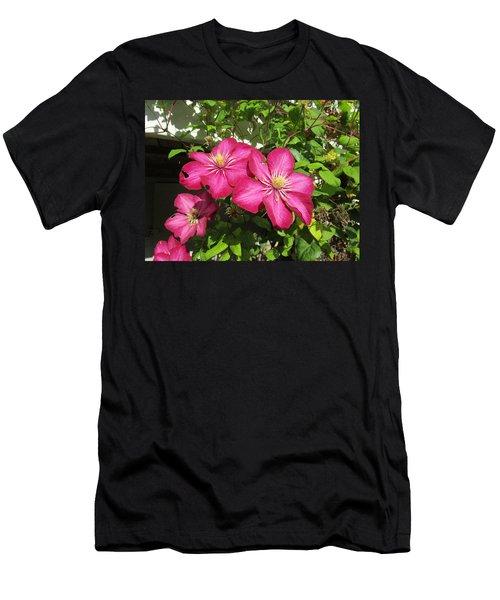 Purple Clematis  Men's T-Shirt (Athletic Fit)