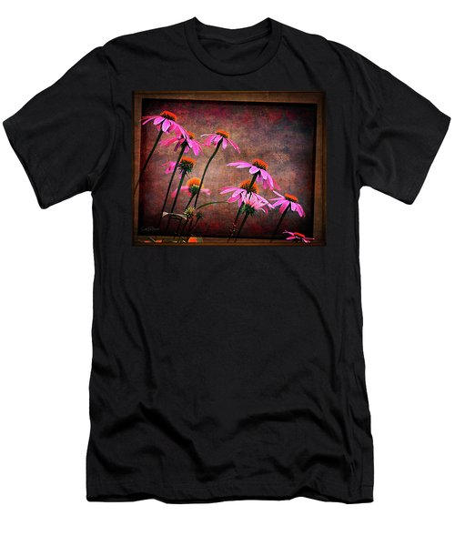 Purple Coneflowers Out Of Alignment  Men's T-Shirt (Athletic Fit)