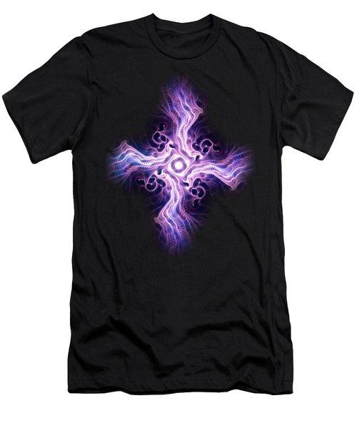 Purple Cross Men's T-Shirt (Athletic Fit)