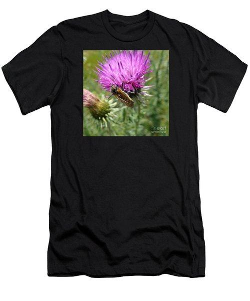 Purple Dandelions 1 Men's T-Shirt (Athletic Fit)