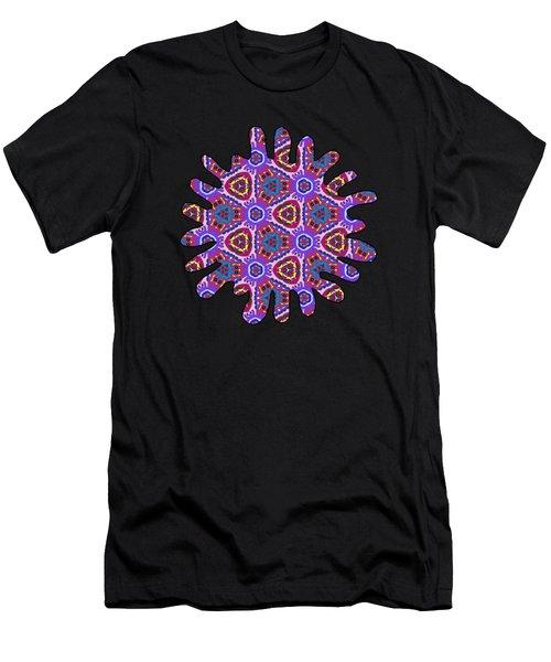 Purple Doodles - Hidden Smiles Men's T-Shirt (Athletic Fit)