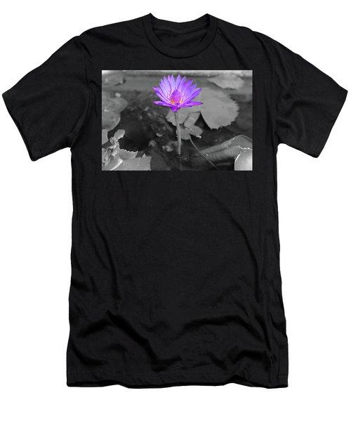 Purple Enlightened Lotus Men's T-Shirt (Athletic Fit)