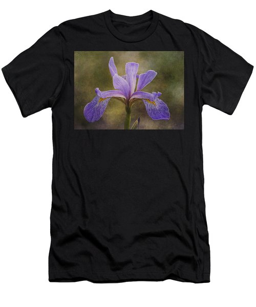 Purple Flag Iris Men's T-Shirt (Athletic Fit)