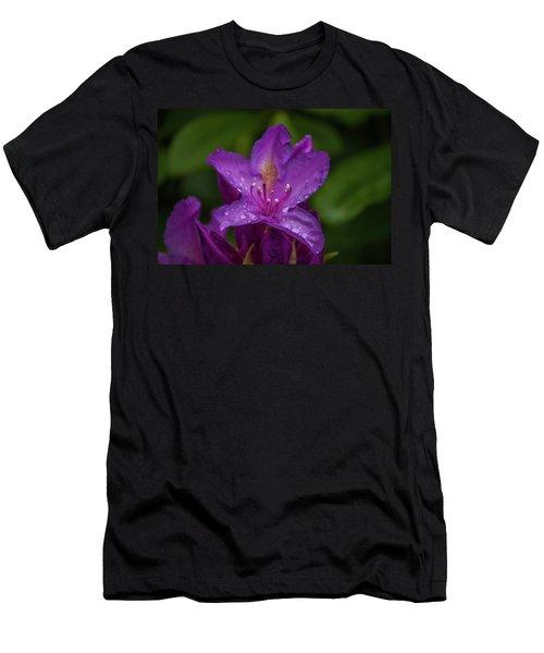 Purple Flower 7 Men's T-Shirt (Athletic Fit)
