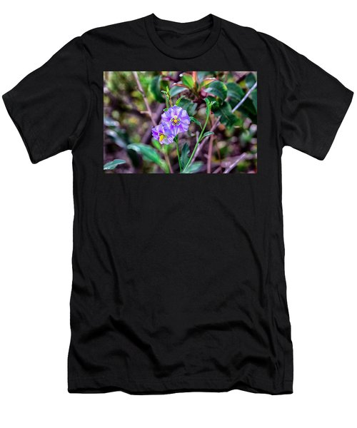 Purple Flower Family Men's T-Shirt (Athletic Fit)