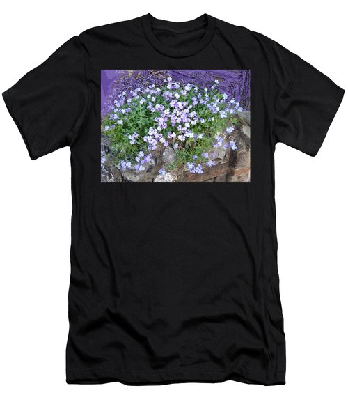 Purple Flower Textured Photo 1028b Men's T-Shirt (Athletic Fit)