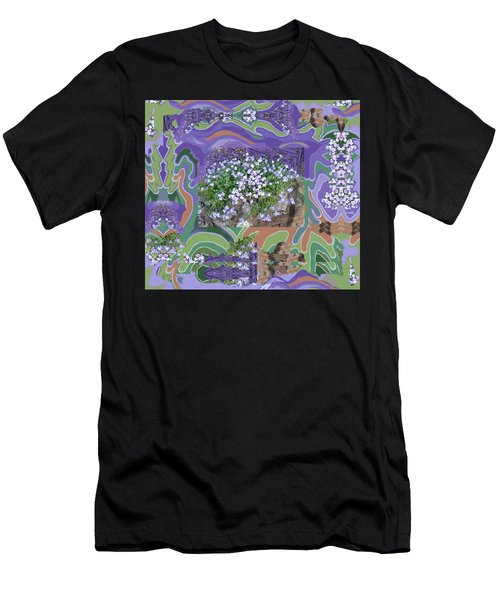 Purple Flower Textured Photo 1028d Men's T-Shirt (Athletic Fit)