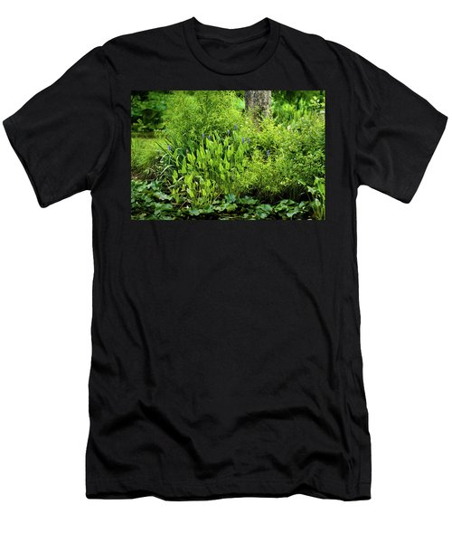 Purple Flowers By The Ponds Edge Men's T-Shirt (Athletic Fit)