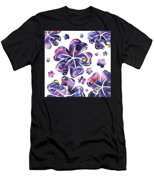 Purple Flowers Dance Men's T-Shirt (Athletic Fit)