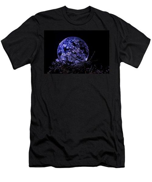 Purple Frozen Bubble Art Men's T-Shirt (Athletic Fit)
