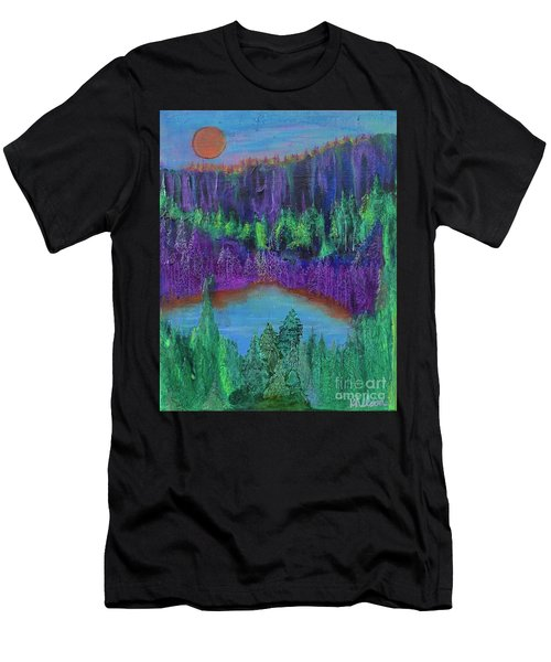 Men's T-Shirt (Athletic Fit) featuring the painting Purple Gorge by Kim Nelson