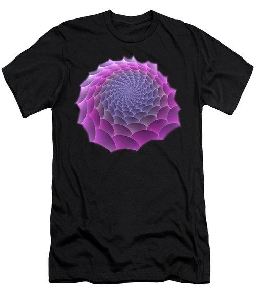 Purple Gradient Men's T-Shirt (Athletic Fit)