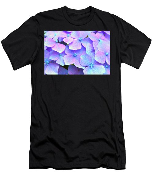 Purple Hydrangeas Men's T-Shirt (Athletic Fit)