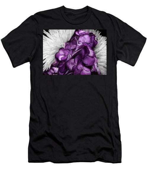 Purple In The White Men's T-Shirt (Athletic Fit)