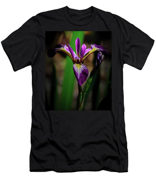 Men's T-Shirt (Athletic Fit) featuring the photograph Purple Iris by Tikvah's Hope