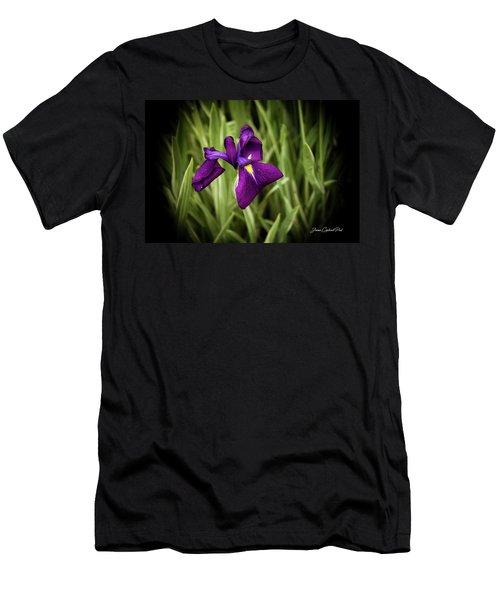 Purple Japanese Iris Men's T-Shirt (Athletic Fit)
