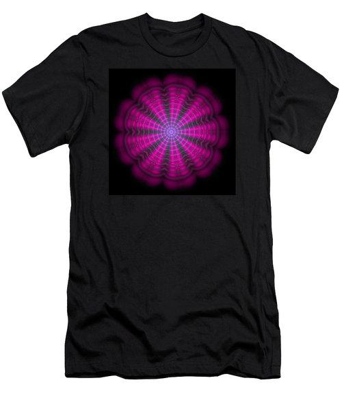 Purple Lightmandala Ripples Men's T-Shirt (Slim Fit) by Robert Thalmeier