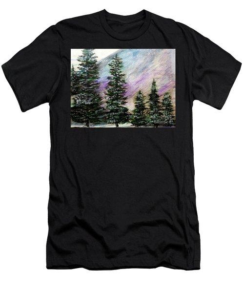 Purple Mountain Majesty Men's T-Shirt (Slim Fit) by Scott D Van Osdol