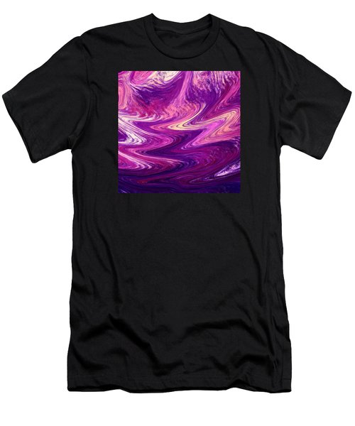 Purple Mountains Reflection Abstract  Men's T-Shirt (Athletic Fit)