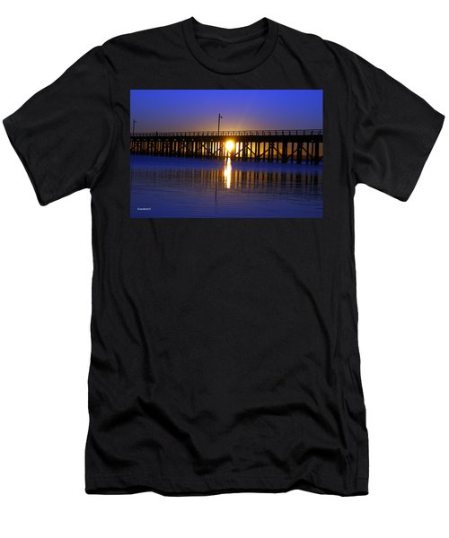 Purple Ocean Sunrise Men's T-Shirt (Athletic Fit)