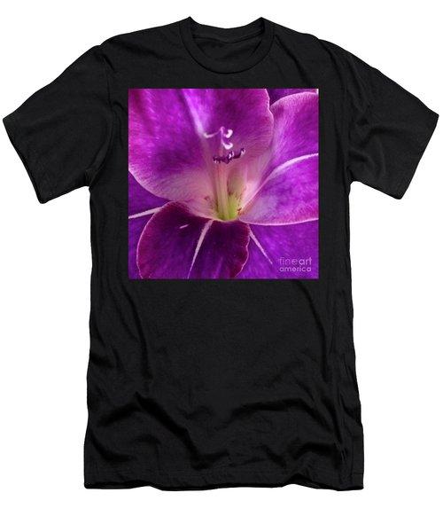 Purple Orchid Close Up Men's T-Shirt (Athletic Fit)