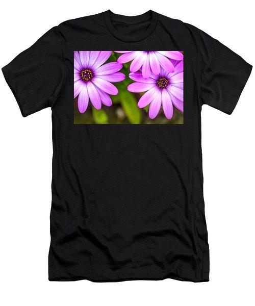 Purple Petals Men's T-Shirt (Athletic Fit)