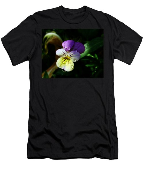 Purple Pansy Men's T-Shirt (Athletic Fit)