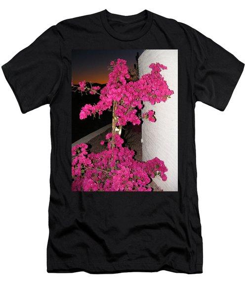 Purple Passion Against Desert Sunset Men's T-Shirt (Athletic Fit)