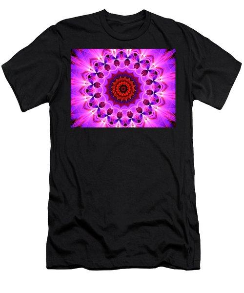 Purple, Pink And Orange Kaleidoscope Men's T-Shirt (Athletic Fit)