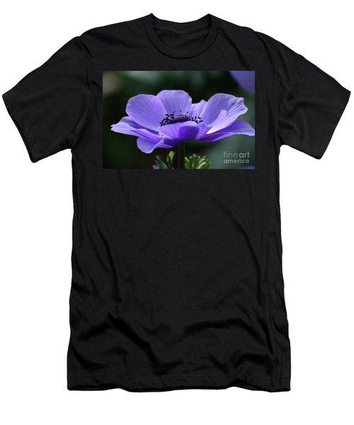 Purple Poppy Mona Lisa Men's T-Shirt (Athletic Fit)